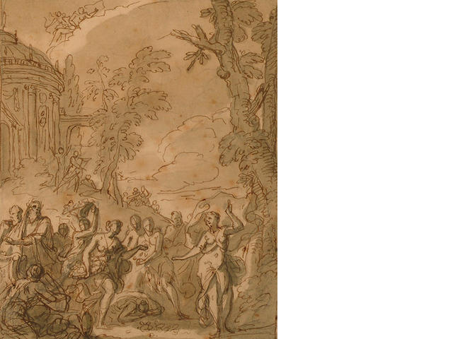 Sir James Thornhill (Dorset 1675-1734 Stalbridge) A Bacchanale.