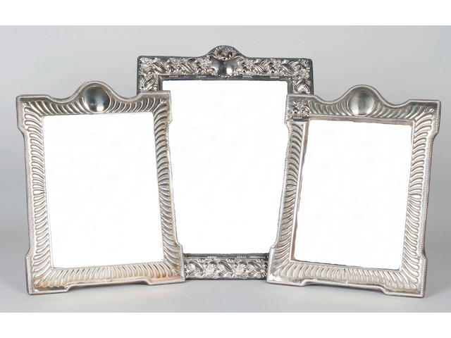 A pair of silver photograph frames, Sheffield, 1988,  (3)