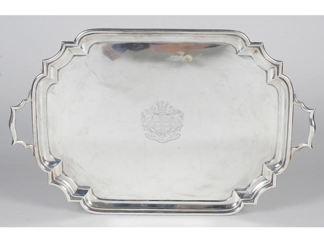 A Britannia standard twin handled tray By The Goldsmiths and Silversmiths Company Ltd, 1913,