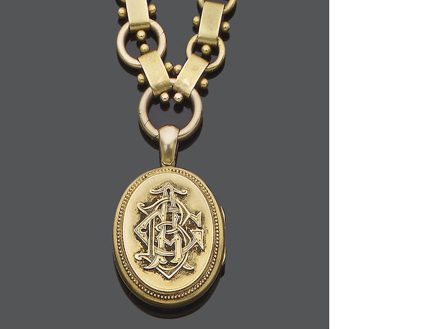 A mid 19th century gold pendant/locket,