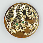 A large tiger clip brooch/pendant