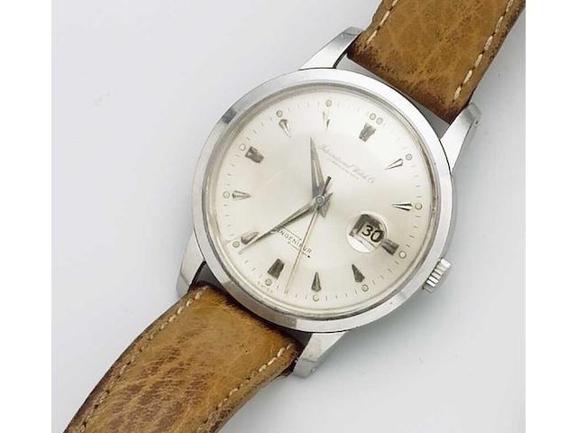 IWC. A fine stainless steel centre seconds calendar watch Ingenieur, 1960s