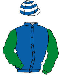 Distinctive Colours: Royal blue, emerald green sleeves, white and Royal blue hooped cap