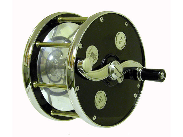 A Hardy The 'Cascapedia' 4/0 multiplying salmon fly reel