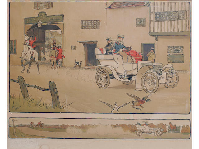 After Cecil Aldin, The Talbot Family and Commercial Hotel, bears signature 'Cecil Aldin', chromolithograph, published circa 1905, I. 51 x 61cm (20 x 24in).