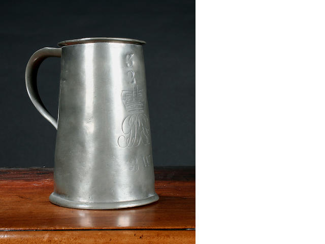 An Imperial quart mug by Carpenter and Hamberger, circa 1800