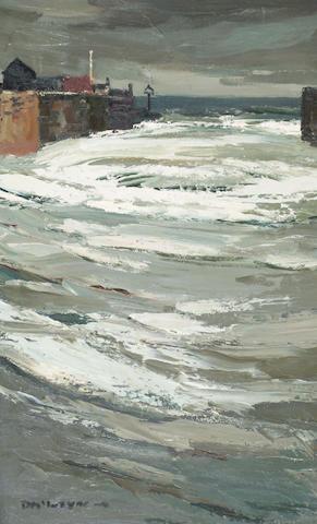 Donald McIntyre (born 1923) 'Aberayron Harbour',