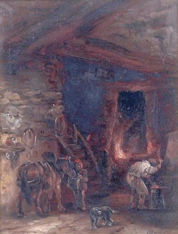 Thomas Barker of Bath (1769- 1847) In the blacksmith's forge,