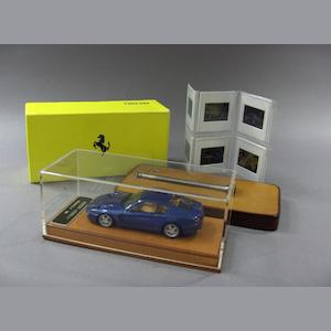 A promotional model of a Ferrari 456GT,