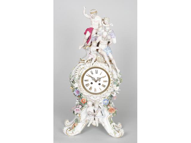 A Meissen clockcase