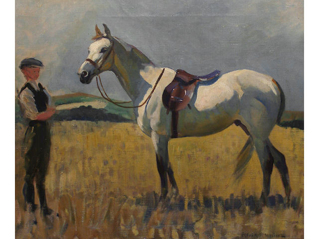 Frederic Whiting (British, 1874-1962) Study of an Arab horse.