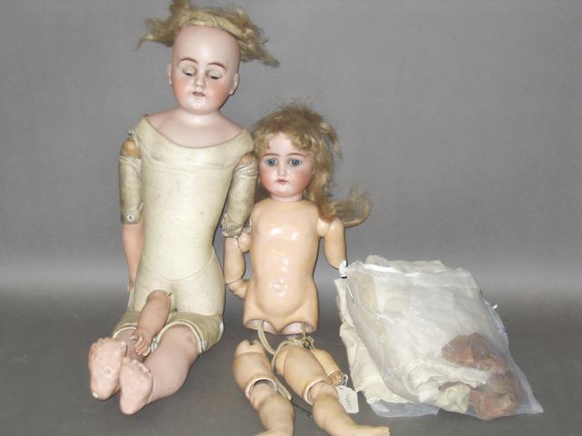 Kestner 192 bisque head doll, circa 1910 2