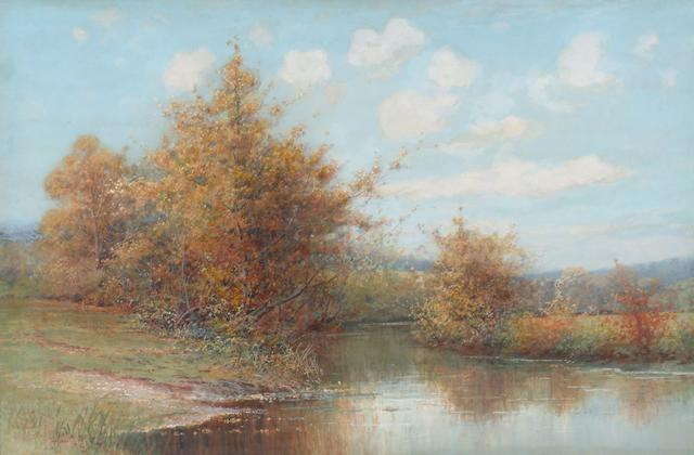 Alfred O. Townsend (1846 - 1917) 'On the banks of the Hambrook',