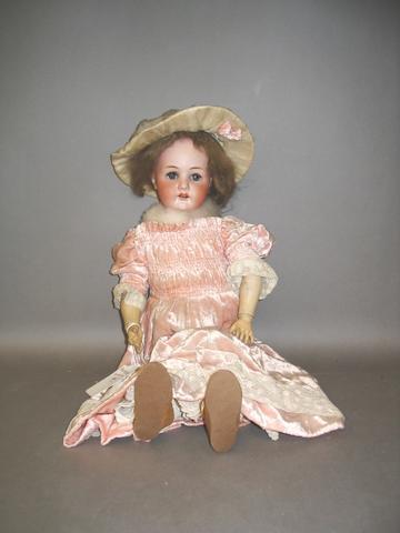 Heubach Koppelsdorf 250 bisque head girl doll, circa 1910