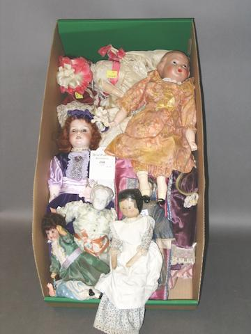 Collection of bisque head dolls, circa 1910 13.