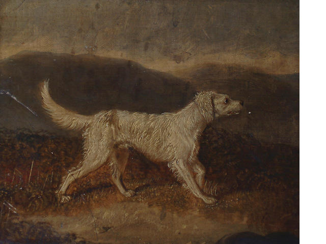 Martin Theodore Ward (British, 1799-1874) A spaniel in a landscape; An English Setter in a landscape. each 14.5 x 18cm (5 3/4 x 7in)(2).