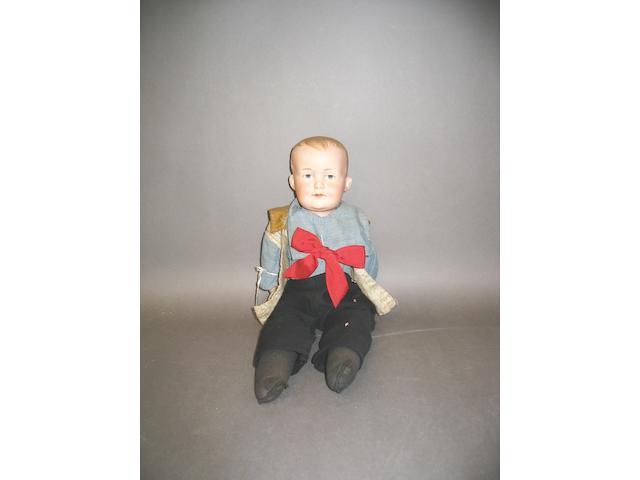 A.M 600 bisque shoulder head doll, circa 1910,