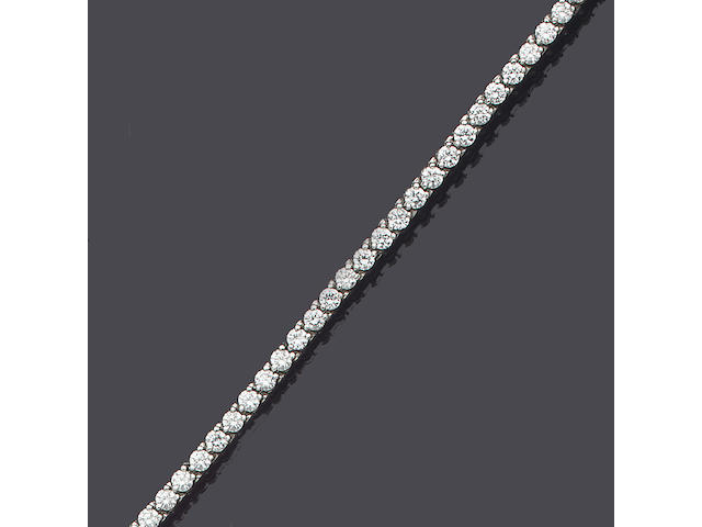 A diamond line bracelet, by Cartier