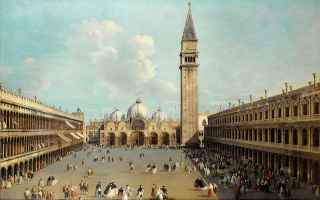 Attributed to Luca Carlevarijs (Udine 1663-1727 Venice) The Piazza San Marco, Venice 89 x 137.5 cm.