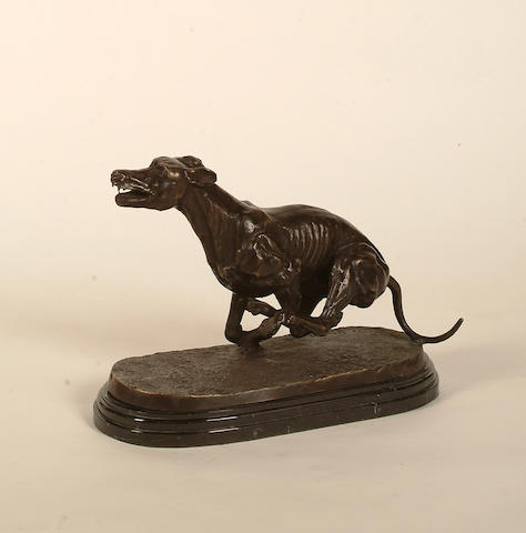 James Osborne (British, 1940-1992)  Racing greyhound. 27cm (105/8in) height, including base.