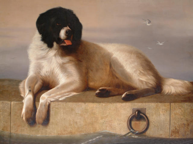 George Cole (British, 1810-1883) after Sir Edwin Henry Landseer, RA A Distinguished Member of The Humane Society 102 x 132 cm. (40 x 52 in.)