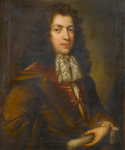 Circle of Richard Van Bleeck (The Hague circa 1670-circa 1733 London) Portrait of a gentleman, half-length, 76.5 x 62.5 cm. (30 1/8 x 24 5/8 in.)