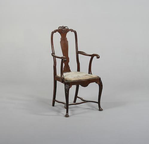 A 19th century mahogany armchair