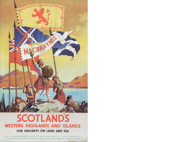 Pair of Scottish travel posters