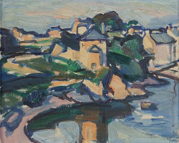 Samuel John Peploe RSA (1871-1935) The Ile de Brehat, Brittany