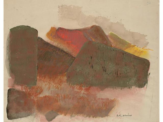 Anthony Whishaw (British, b.1930) Abstract landscape.