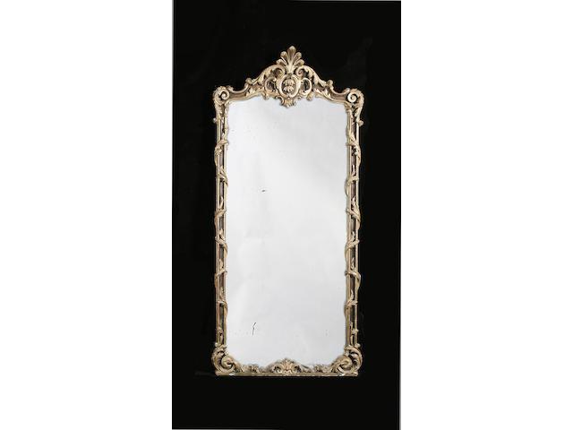 A Rococo revival gilt carved pier mirror