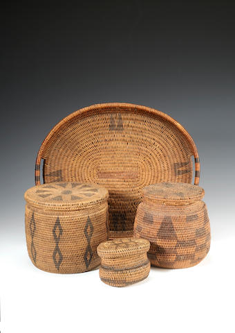A group of 4 Rotse baskets