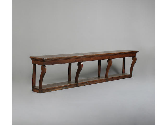 A large 19th century oak console table
