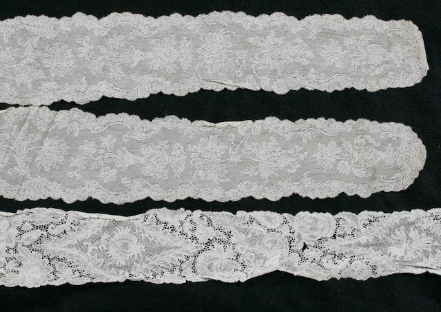 A pair of mid 18th century Valencienne lappets