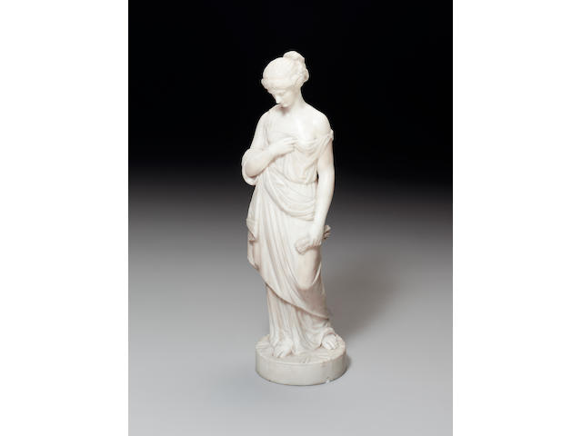 Robert Physick (English, 1815-c.1880): A sculpted white marble figure of 'Summer'