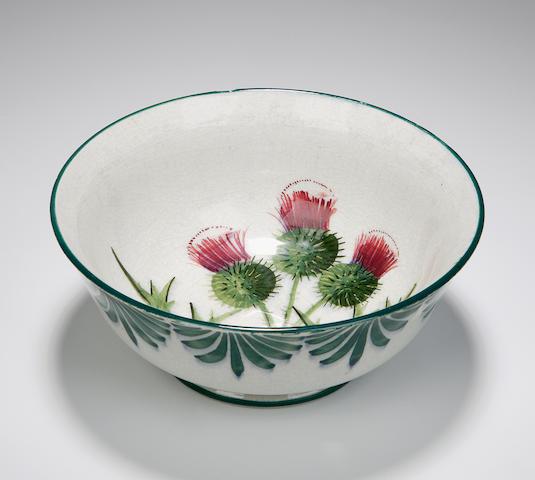 'Thistles' A Wemyss porridge bowl