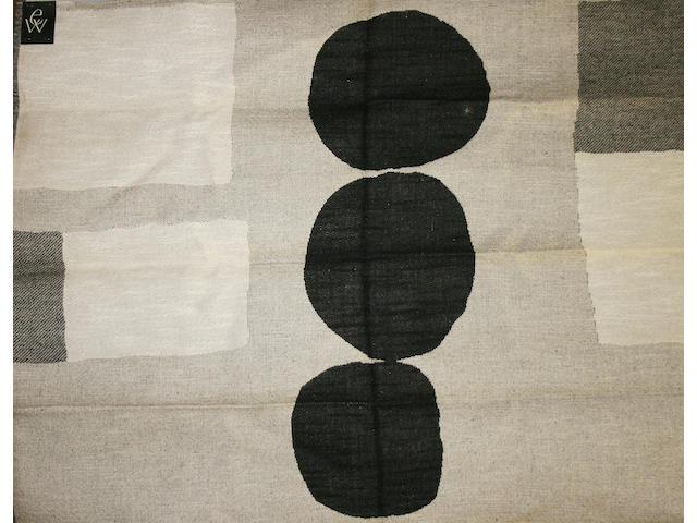 Two woven panels of Edinburgh Weavers fabric, circa 1960s