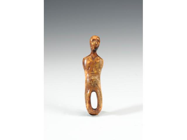 An Alaskan eskimo ivory figure