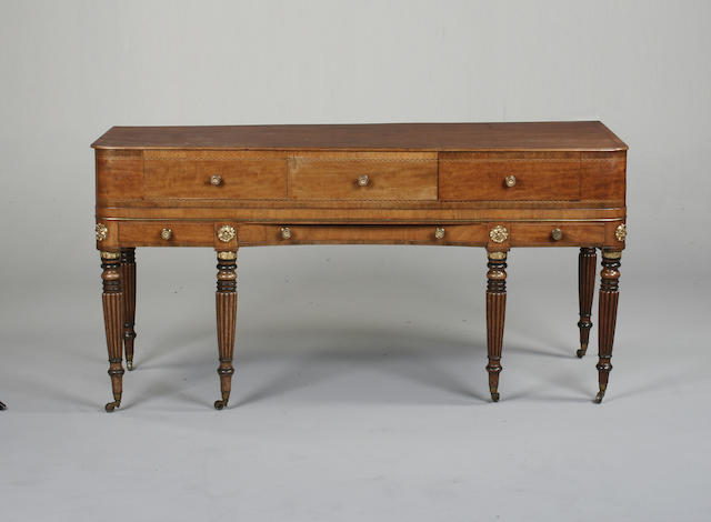 A 19th century mahogany and inlaid sideboard