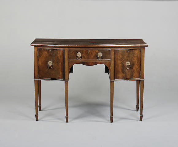 A George III style mahogany bow front sideboard