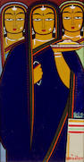 Jamini Roy, w/c, Three women