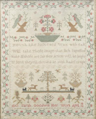 A George III needlework sampler