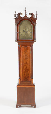 A George III mahogany and satinwood inlaid longcase clock William Turnbull Inverkeithing
