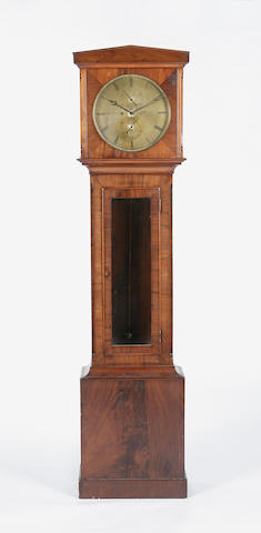 A 19th century mahogany longcase clock Regulator, J. Aitchison