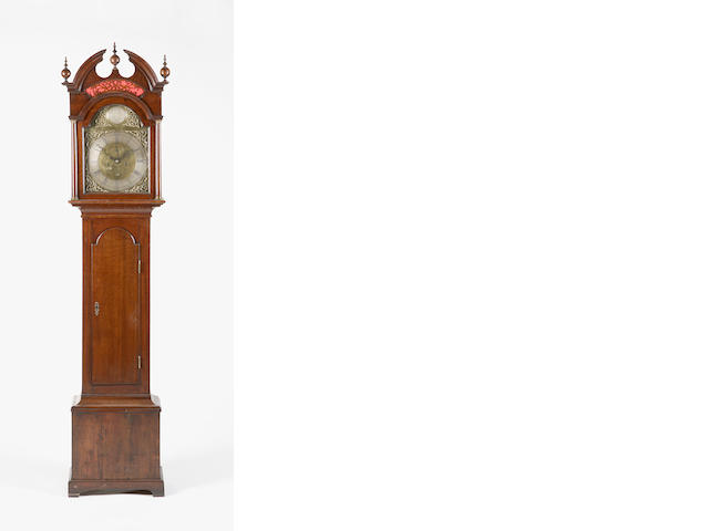 An early 19th century oak longcase clock inscribed James Ivory, Dundee