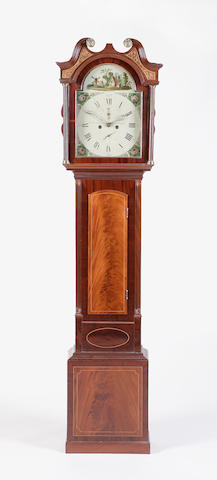 A George III mahogany longcase clock, William Aitken, Haddington
