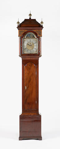 A George II mahogany longcase clock, James Nicol Canongate,