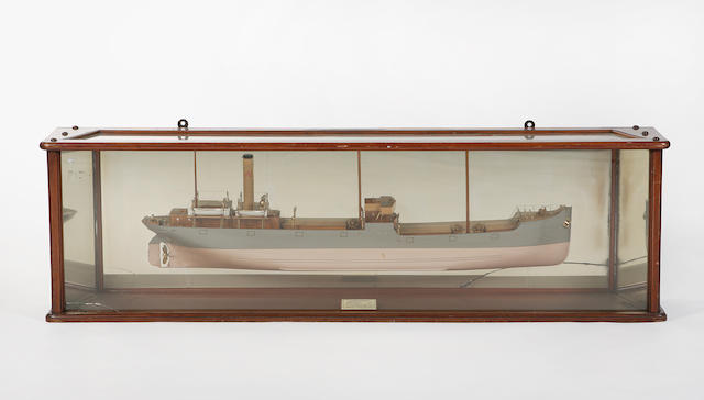 A ship Builders half block model of 'S.S. Knottingley'