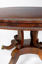A Regency mahogany loo table,