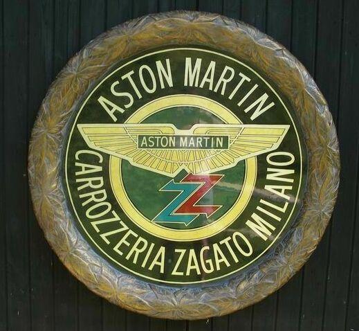 A Tony Upson, 'Aston Martin Zagato roundel', diameter 48in